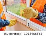 window installation process... | Shutterstock . vector #1015466563