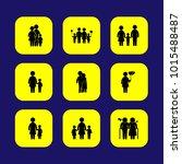 humans vector icon set. love ... | Shutterstock .eps vector #1015488487