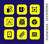 web design vector icon set.... | Shutterstock .eps vector #1015490563