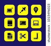 web design vector icon set.... | Shutterstock .eps vector #1015496023