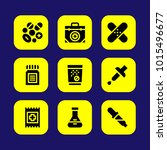 medical vector icon set. aid ... | Shutterstock .eps vector #1015496677