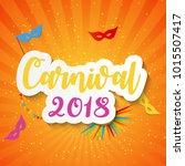 carnival brochure template for... | Shutterstock .eps vector #1015507417