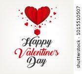 happy valentines day typography.... | Shutterstock .eps vector #1015510507