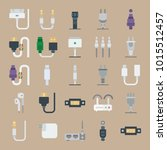 icons connectors cables with...