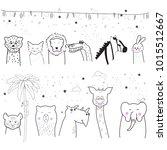 animal cartoon set isolated on... | Shutterstock .eps vector #1015512667
