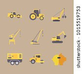 icons construction machinery... | Shutterstock .eps vector #1015519753