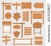 wooden blank road signboards.... | Shutterstock .eps vector #1015520827
