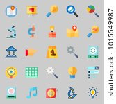 icons about inspiration with... | Shutterstock .eps vector #1015549987