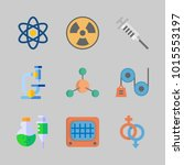 icons about science with atom ...   Shutterstock .eps vector #1015553197