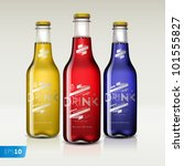 bottles with different drinks ... | Shutterstock .eps vector #101555827
