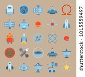 icons universe with hieroglyph  ... | Shutterstock .eps vector #1015559497