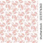floral pink ornament. seamless... | Shutterstock . vector #1015576363