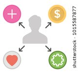 employee development. flat... | Shutterstock .eps vector #1015587877