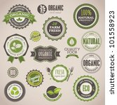 set of organic badges and labels | Shutterstock .eps vector #101558923