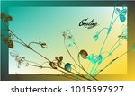 nifty gentle flower botanical...   Shutterstock .eps vector #1015597927