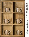 wooden case and cup   Shutterstock . vector #1015598887