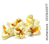tasty popcorn. elements for... | Shutterstock .eps vector #1015610377