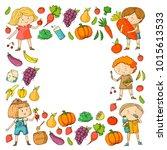 children. school and...   Shutterstock .eps vector #1015613533