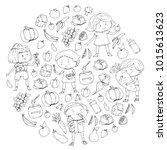 children. school and...   Shutterstock .eps vector #1015613623