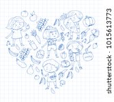 children. school and...   Shutterstock .eps vector #1015613773