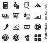 solid black vector icon set  ... | Shutterstock .eps vector #1015613923