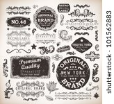 retro labels and vintage badges ... | Shutterstock .eps vector #101562883