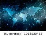 2d illustration world map... | Shutterstock . vector #1015630483