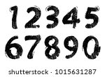set of grunge numbers.vector... | Shutterstock .eps vector #1015631287