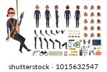 thief  hacker vector. animated... | Shutterstock .eps vector #1015632547