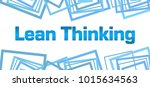 lean thinking text written over ... | Shutterstock . vector #1015634563