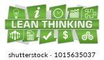 lean thinking text written over ... | Shutterstock . vector #1015635037