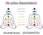 seven main chakras with german... | Shutterstock .eps vector #1015644253