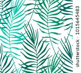 tropical leaves  jungle pattern.... | Shutterstock .eps vector #1015645483