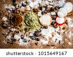 close up of mixture of... | Shutterstock . vector #1015649167