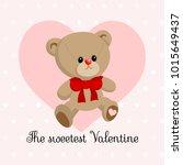 cute little teddy bear boy ... | Shutterstock .eps vector #1015649437