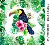 watercolor illustration of... | Shutterstock . vector #1015651813