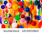 paint on a colored background | Shutterstock . vector #1015652863