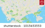 vector color map of shenzhen ... | Shutterstock .eps vector #1015653553