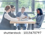 behind the glass view of...   Shutterstock . vector #1015670797