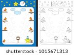 preschool worksheet for... | Shutterstock .eps vector #1015671313