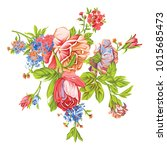 beautiful colorful flower   Shutterstock .eps vector #1015685473