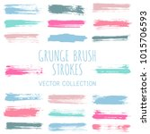 grunge paint brush stroke... | Shutterstock .eps vector #1015706593