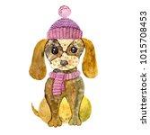 watercolor illustration of... | Shutterstock . vector #1015708453