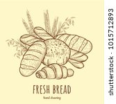 fresh bread vector illustration.... | Shutterstock .eps vector #1015712893