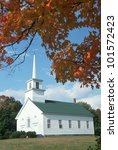 Union Meeting House In Autumn...