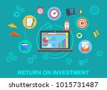return on investment fast roi... | Shutterstock .eps vector #1015731487