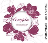 floral background. hand drawn... | Shutterstock .eps vector #1015736953