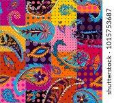 pattern based on decorative...   Shutterstock .eps vector #1015753687