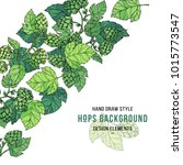 beer hop banner. sketches of... | Shutterstock .eps vector #1015773547