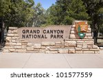 The entrance to the Grand Canyon National Park, Arizona, USA - stock photo